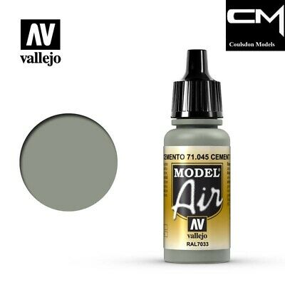 Vallejo Model Air 71.045 Cement Grey RAL7033 17ml Acrylic Airbrush Ready Paint