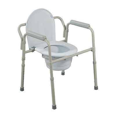 Drive Medical Folding Steel Bedside Commode Brand - 1 Count