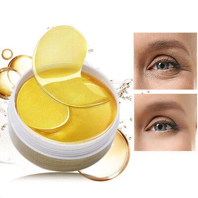60pc Collagen Crystal Eye Mask Gel Eye Patches for Eye Bags Wrinkle Dark Circle
