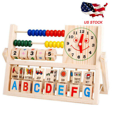 Wooden Abacus Learning Early Educational Development Toys For Kids Boy Girl Baby (Kids Learning Toys)