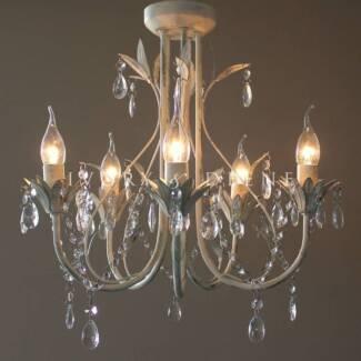 French Provincial Swarovski crystal style Chandelier   Ceiling ...