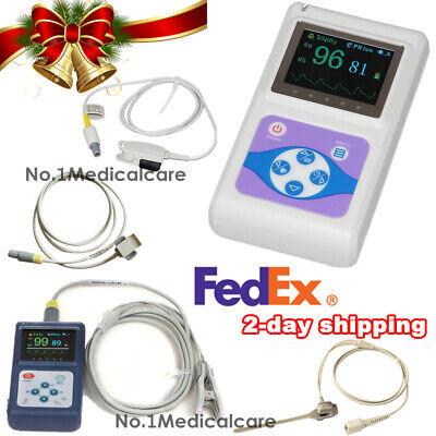 Handheld Finger Spo2 Pulse Oximeter Adult Infant Neonatal Vet Probe Sw Fedex
