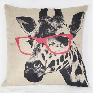 Giraffe pillow cover- brand new