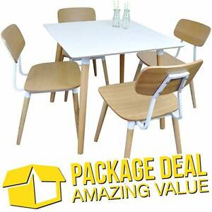 DEAL - Cafe / Restaurant Table with 4 Matching Dining Chairs Silverwater Auburn Area Preview