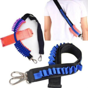 Blue Shoulder Strap for Nerf N-strike Blaster Gun Foam Bullet Belt Dart Storage