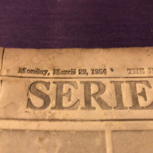 Mon., March 28, 1954, Halifax Chronicle Herald Sports Page Proof
