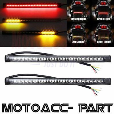2PCS Motorcycle 48LED Integrated Brake Stop Turn Signal Tail Light Strip Bar USA
