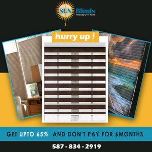 Window blinds! DON'T PAY FOR 6MONTHS AND AVAIL UPTO 65% OFF