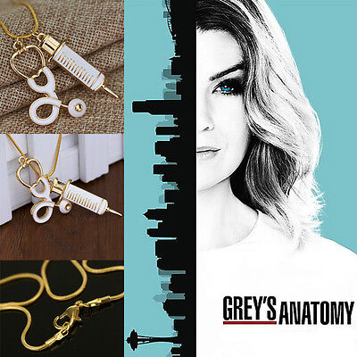 Free Shipping Grey's Anatomy inspired Doctor Stethoscope necklace