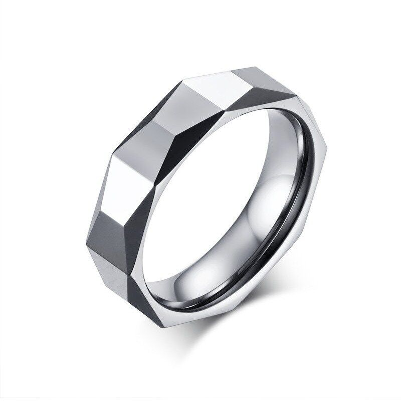 c27d207603a3b Details about 5.5mm Tungsten Carbide Wedding Band Men's Silver Polished  Engagement Ring Sz 7-9