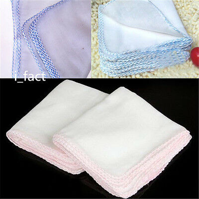 Pack of 10X Cotton Facial Face Cleansing Muslin Cloth Clean Dirt Removal Hot USS
