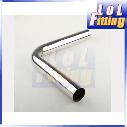 "2.5/"" 63mm 90Deg Intercooler Piping Stainless Steel Mandrel Bend L=610MM US"