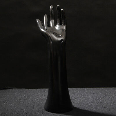 Fashion Mannequin Hand Arm Display Base Female Gloves Jewelry Model Stand Black