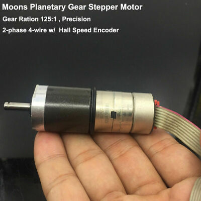 Moons Mini Planetary Metal Gear Stepper Motor 2-phase 4-wire Speed Encoder Hall