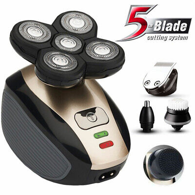 5IN1 4D Rotary Electric Shaver Rechargeable Bald Head Shaver Beard Trimmer NEWS (Electric Shaver Heads)