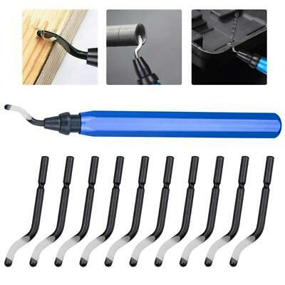 Handle Burr Metal Deburring Remover Cutting Tool With 10pcs Rotary Deburr Blades