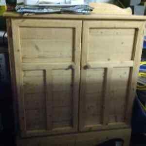 Sanded cabinet