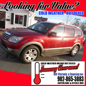 2009 Kia Borrego EX 7 passenger SUV New Tires Only $6995