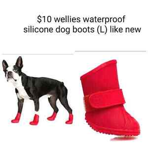 Rubber dog boots large