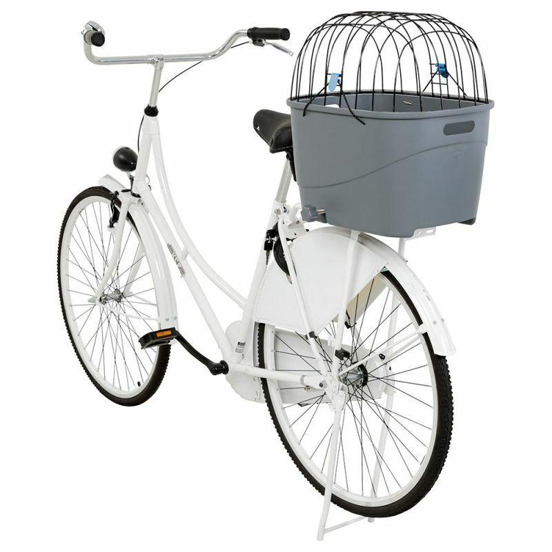 Cesta cestino trasportino da bici con griglia per cani gatti animali