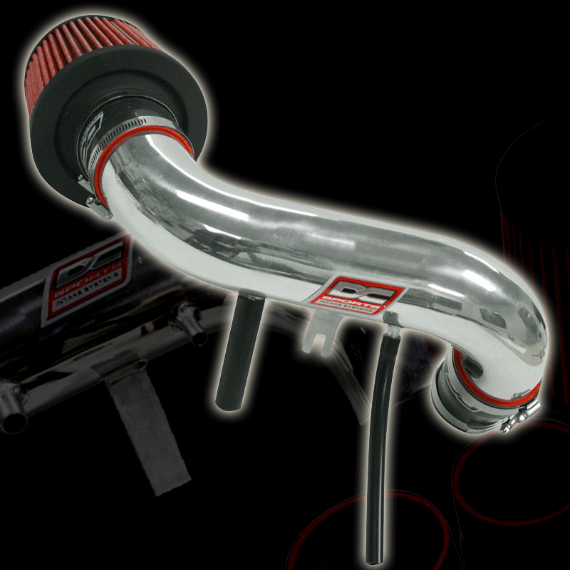DC Sports SRI4800 Polished Short Ram Intake System with Filter and Installation Hardware