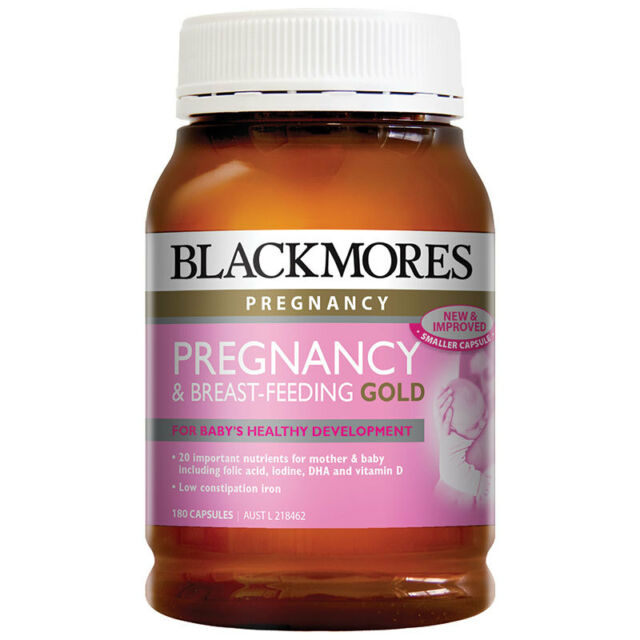BLACKMORES PREGNANCY & BREAST FEEDING GOLD 180 CAPSULES - SHORT DATED ONLY $1.00