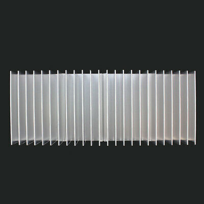 New 60x150x25mm Silver Aluminum Heat Sink For Led And Power Ic Transistor Cvx