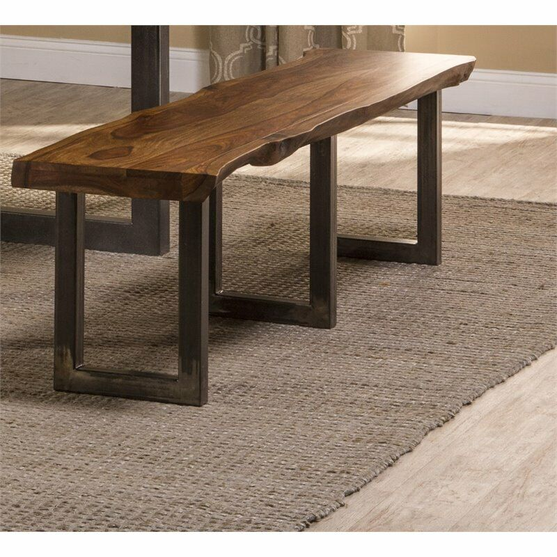 """Hillsdale Emerson 70"""" Dining Bench in Natural Sheesham"""