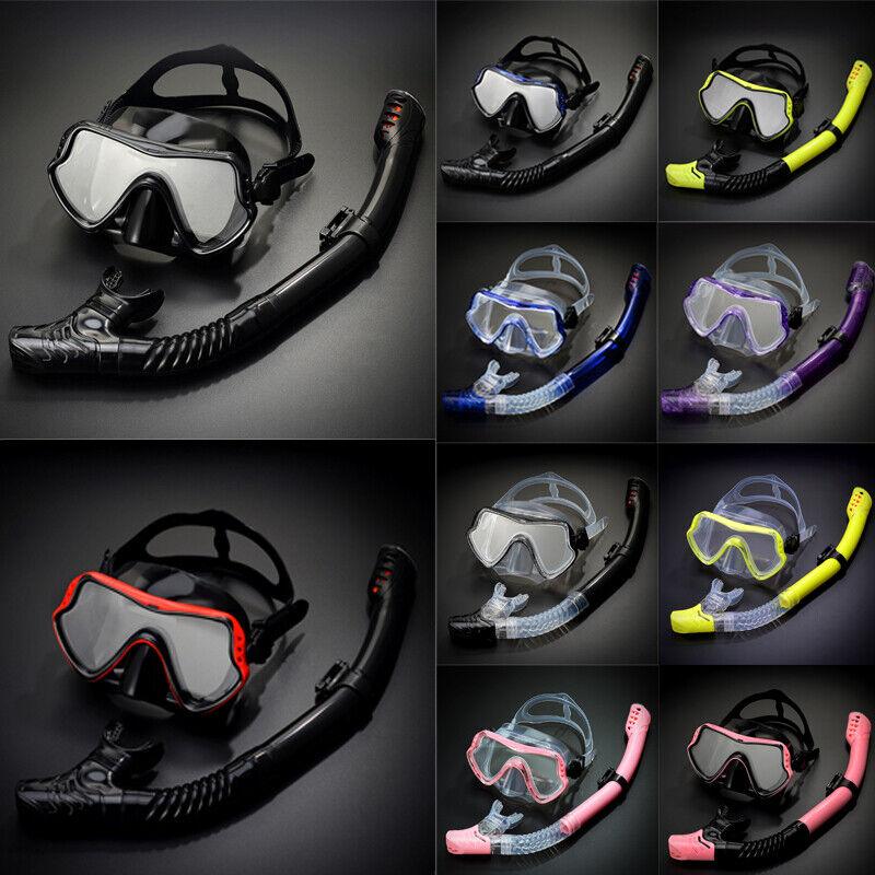 Professional Scuba Diving Silicone Mask Snorkel Set Anti-Fog Tube Swim Equipment