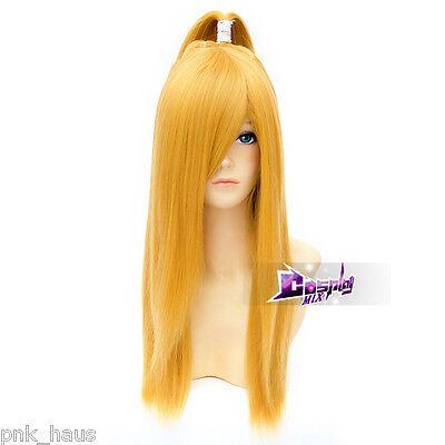Anime Deidara Orange 60cm Perücke Gelatt Haar Halloween Party Lang Ponytail Mode - Anime Langes Haar Perücke