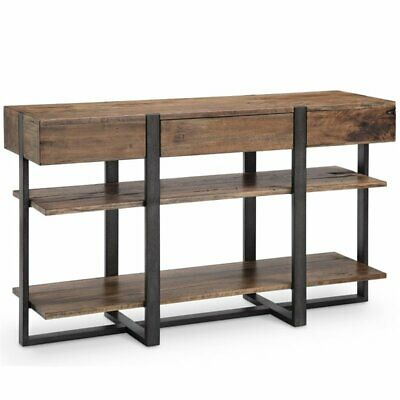 Magnussen Prescott Modern Console Table in Rustic - Magnussen Modern Table