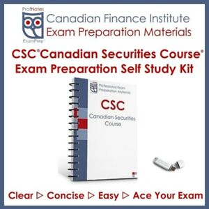 Canadian Securities Course [CSC] Exam Prep 2018 Textbook