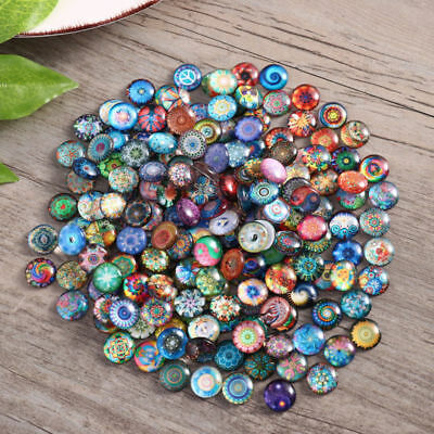 Mosaic Tiles For Crafts (200pcs 12mm Mixed Round Glass Mosaic Tiles Bottons for Crafts Jewelry)