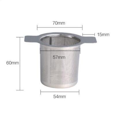 Edelstahl 304 Fein Mesh Filter Tee Infuser Fine Wiederverwendbare Sieb