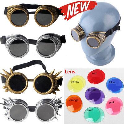 Retro Steampunk Goggles Glasses ABS Plastic Frame Welding Cyber Punk Cosplay (Cyberpunk Glasses)