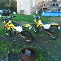 2 Drz 400's,and a xt 250