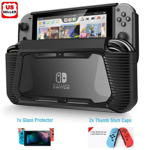 Hybrid Case for Nintendo Switch Rugged Rubberized Snap on Hard Cover TPU Bags, Skins & Travel Cases