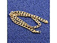 brand new mens gold chain