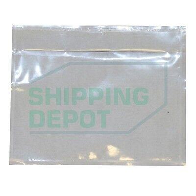 1-3000 7x10 4.5x5.5 Clear Packing List Slip Envelopes Self Adhesive 2.5mil