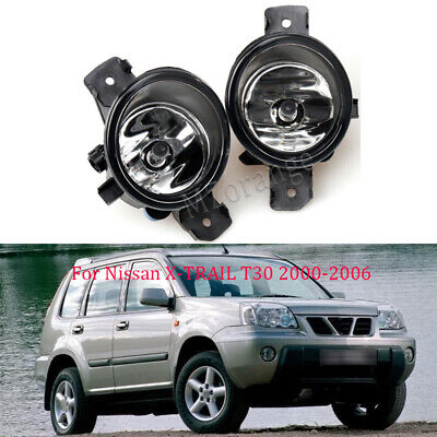 Pair Front Bumper Fog Light Lamp For Nissan X-TRAIL XTRAIL T30 2000-2006 w/Bulb
