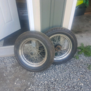 Motorcycle rims and tires
