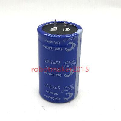 2.7v 500f 100f 2 Pins Super Farad Capacitor Power Supply Supercapacitor