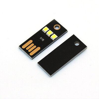 5Pcs Mini 3 LED USB Night Light Pocket Lamp for PC Laptop ComputerG0
