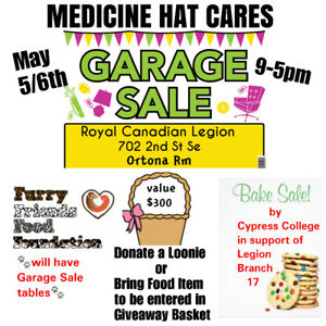 Big garage/bake sale ......come out and support us
