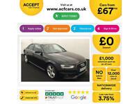 Black AUDI A4 SALOON 1.8 2.0 TDI Diesel SPORTS LINE FROM £67 PER WEEK!