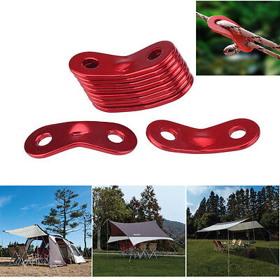 10pcs Camping Accessories Tent Rope Fastener Guyline Tensioner Rope Adjuster CVF
