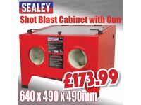 Sealey Tools SHOT BLASTing CABINET Glass Beads Sand Blaster Soda blaster and More grit