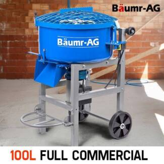 Baumr-AG 100L Mortar Screed Pan Mixer - 1500W Electric Concrete - Seven Hills Blacktown Area Preview