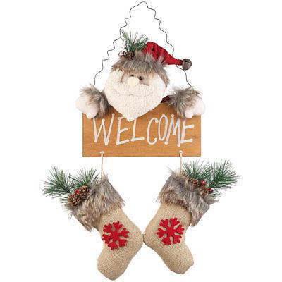 Tür-dekoration (Türdeko: Weihnachtsmann-Tür-Dekoration mit