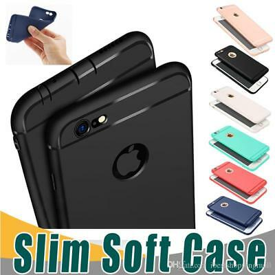 Colorful Candy (Slim Soft TPU Silicone Case Cover Candy Colors Matte Phone Cases Shell iPhone)